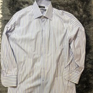 Canali Blue and White Striped Shirt 16.5/42